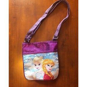 Other - Girls Frozen Elsa Anna Purse Bag Purple 7.5 x 7.5